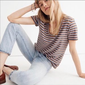 Madewell Alto Scoop Tee In Brookline Stripe